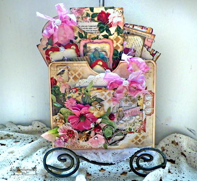 File Folder Pocket Mini Album by Lisa Novogrodski for BoBunny using the Juliet Collection