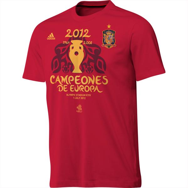 camiseta conmemorativa Campeones de Europa 2012 de Adidas Selección Española