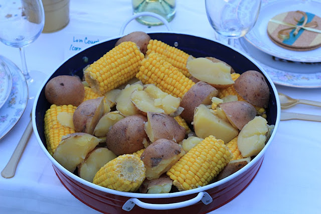 corn and potatoes only crab boil | Cordier Event Planning