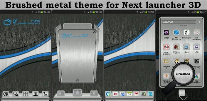 Next Launcher Theme BrushMetal APK v1.0 Android [Full] [Gratis]