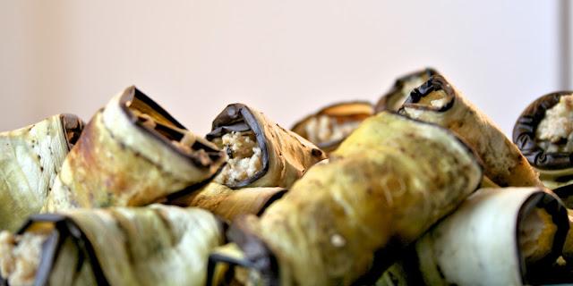 Ρολά μελιτζάνας,Eggplant rolls