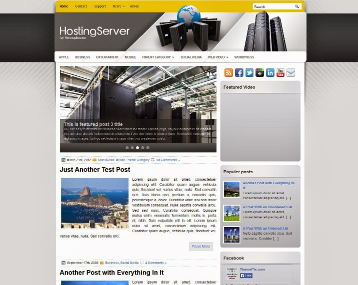 HostingServer Free WordPress Theme
