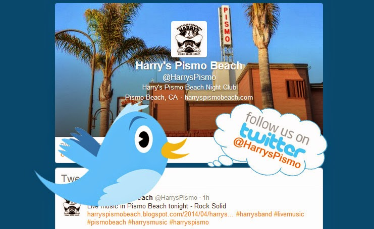 Follow us on Twitter @HarrysPismo