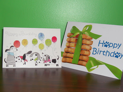 Picture of 2 birthday cards Rudy received