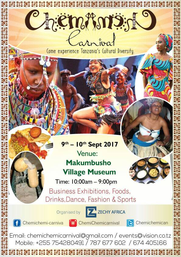 Tamasha la Chemichemi Carnival Septemba 9-10, 2017