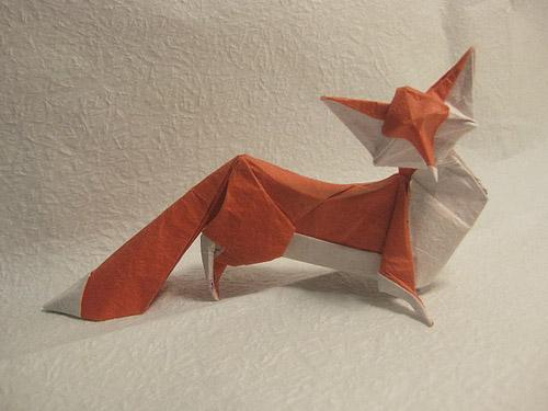 zorro origami papel