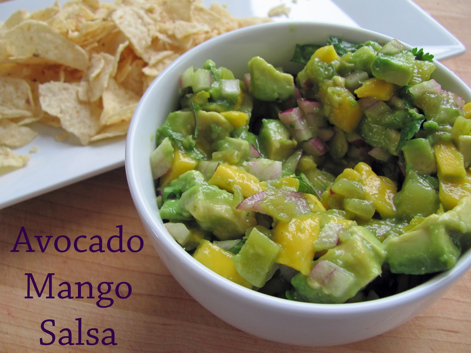The Girly Girl Cooks: Avocado Mango Salsa