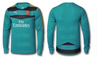 berita bocoran beria baju bola musim depan Arsenal 2015/2016 Kipet Kit