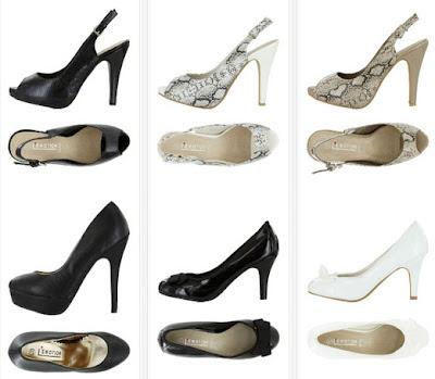 Zapatos de tacón efecto piel