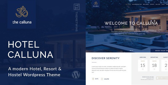 best Hotel & Resort & WordPress Theme