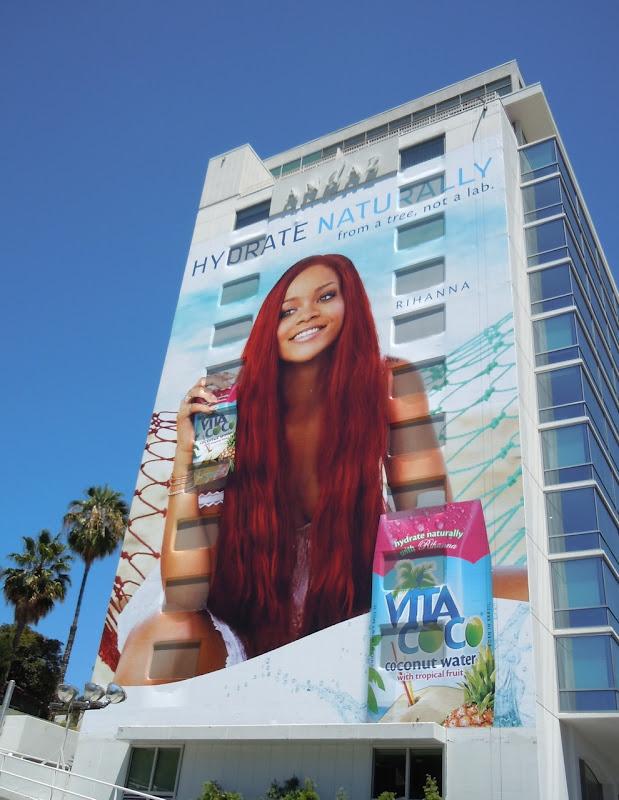Giant Rihanna Coconut water bilboard