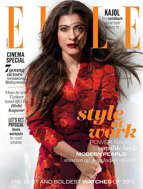 Kajol Elle India August 2015