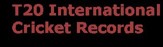 T20 International Records