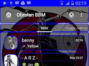 BBM MOD Transparent Blue V2.10.0.31 APK