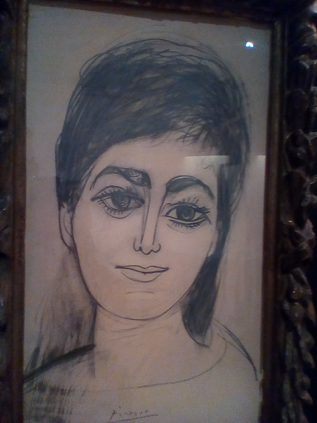 Picasso.μονοφθαλμος βασιλιας τυφλων υποστηριξε αλγερινη βομβίστρια