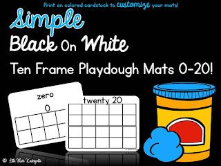 https://www.teacherspayteachers.com/Product/Ten-Frame-Playdough-Mats-125250