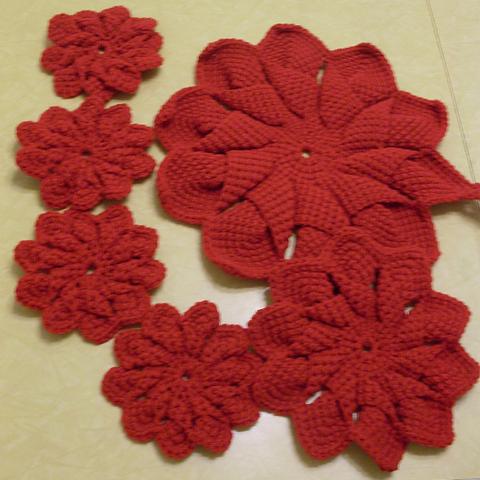 10-petal Hot pads