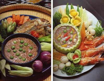Vegivore - อาหารไทย - น้ำพรก ผักลวก