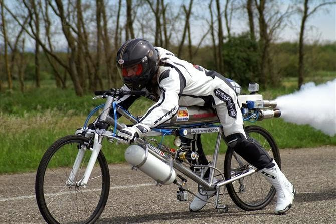 Swiss Rider hits 207mph on a Bicycle