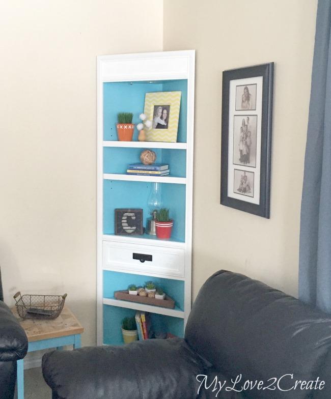 Corner cabinet makeover, MyLove2Create