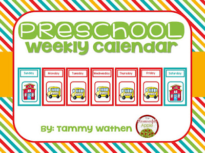 https://www.teacherspayteachers.com/Product/Preschool-Weekly-Calendar-2002159