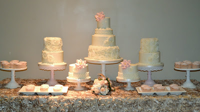 Sweet Cakes by Rebecca - romatic rosette buttercream cakes, cupcakes
