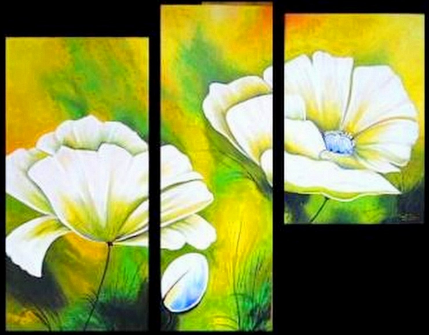 Cuadros modernos pinturas y dibujos flores pinturas al for Fotos de cuadros abstractos sencillos