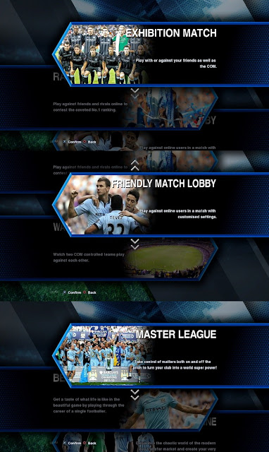 Man. City Submenu Header PES 2013