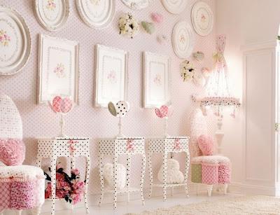 cuarto rosa para niña