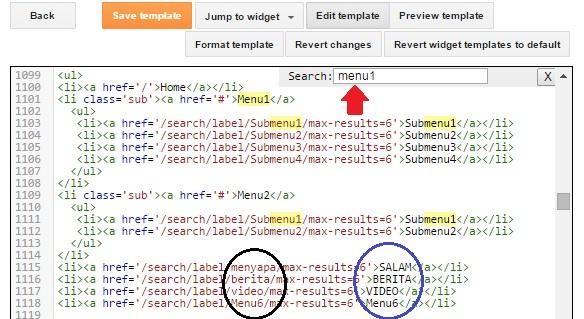 Cara Membuat Sub Menu pada Homepage Blog