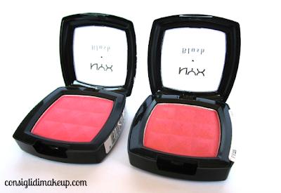 recensione powder blush nyx pincè PB25 peche PB06