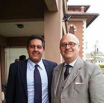 L'amicizia e la stima per il governatore della Liguria Giovanni Toti, qui con Fabio Lucchini,