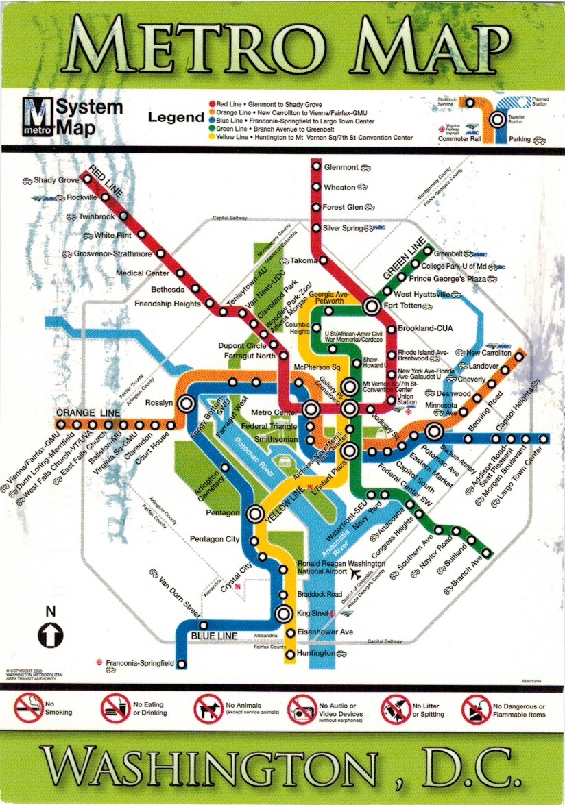 Map Cards Hunting 0192 Usa Metro Washington D C