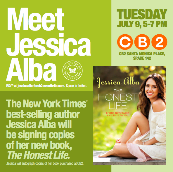 L A Story Coming Attraction Jessica Alba Book Signing