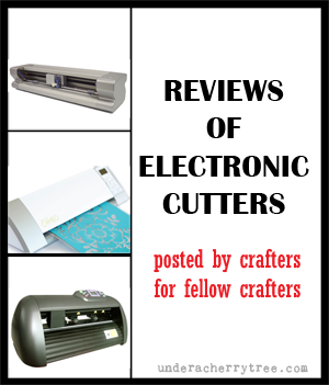 with many electronic cutters in an effort to help other crafters find