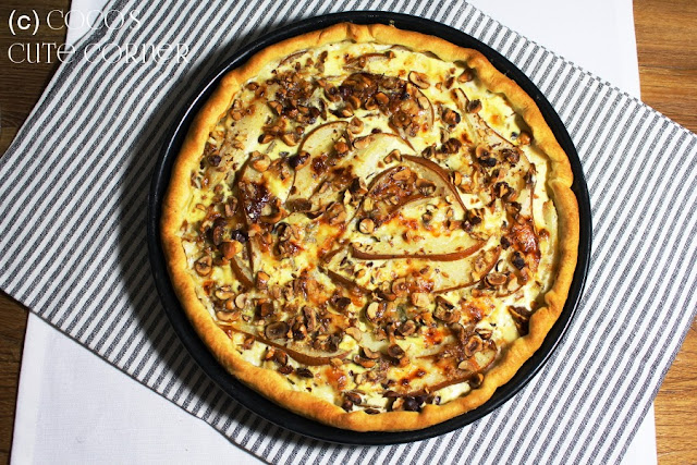 Pear, Blue Cheese and Hazelnut Quiche