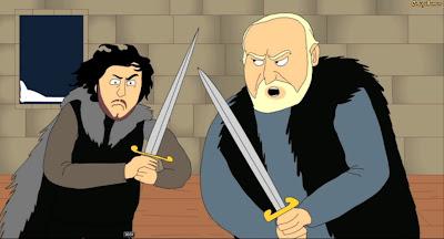 Collegehumor, jon nieve y jeor Mormont - Juego de Tronos en los siete reinos