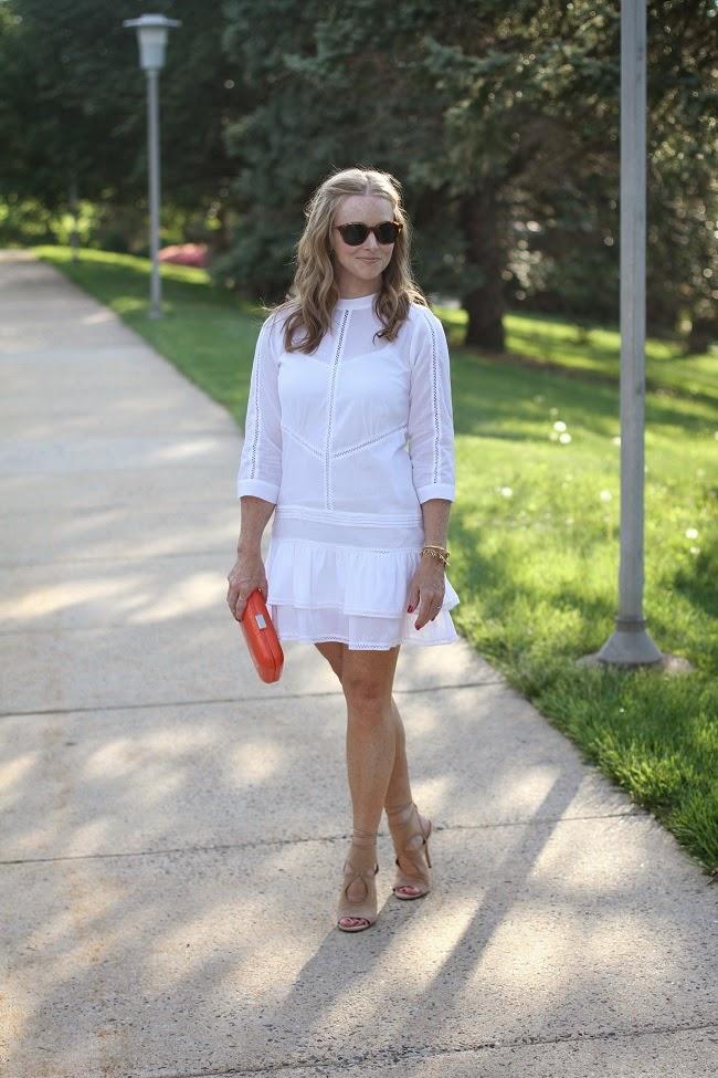 asos petite white dress