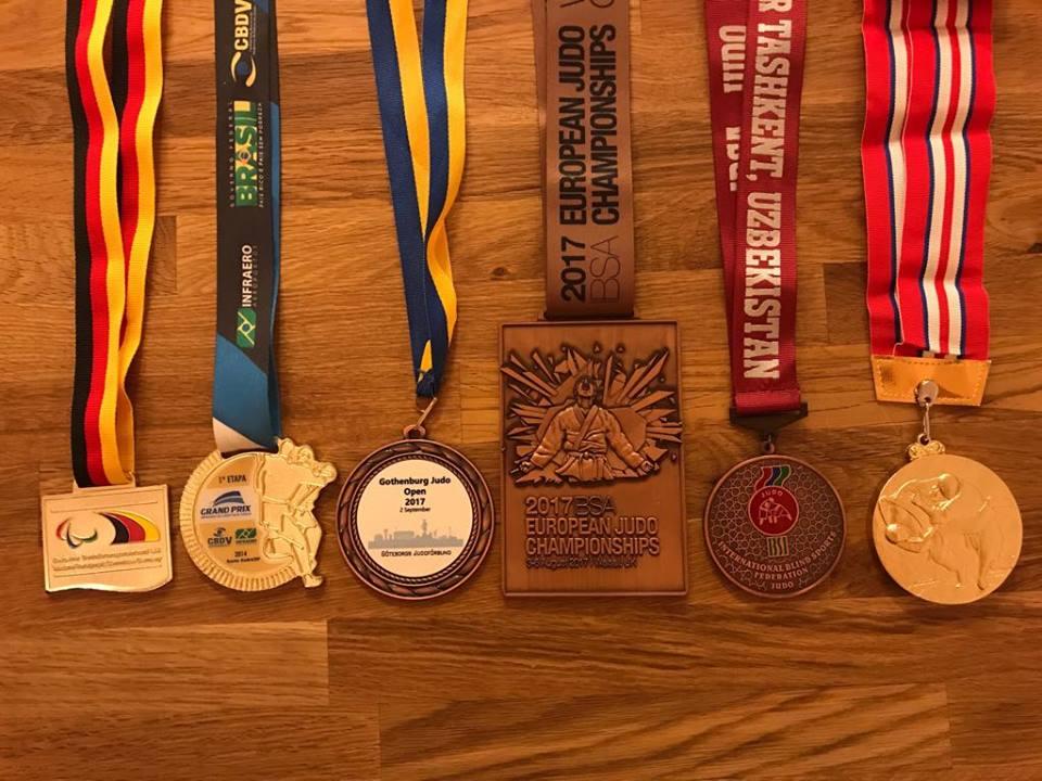 2017 ett bra år med medalj på alla internationella tävlingar