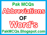 New latest 2015 MCQs , Past paper , past test mcqs , abbreviations of some important , free download abbreviations , all word abbreviations , abbreviations for all test , all types of abbreviation