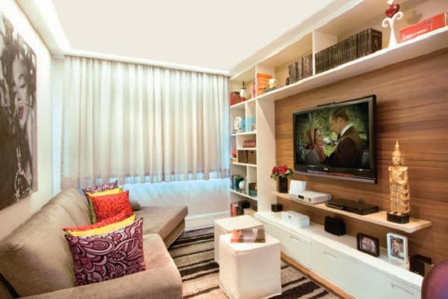 Sala De Tv Com Home Theater ~ Minha Sala de TV com jeito de cinema!  Decor Salteado  Blog de