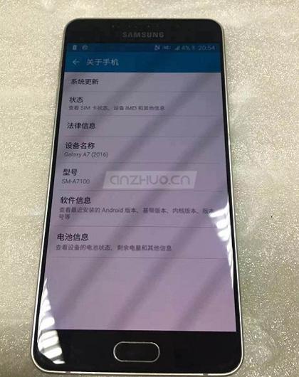 Samsung galaxy A7 - A7100-2016
