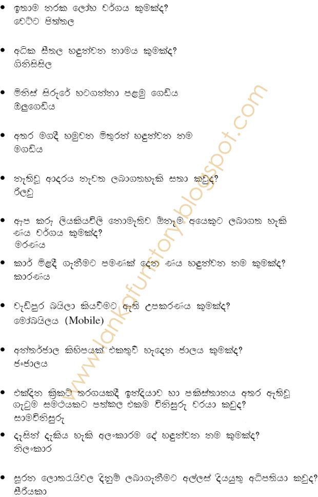 Baby Girl Names 2012 Sinhala