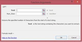 Fungsi argument untuk rumus excel LEFT