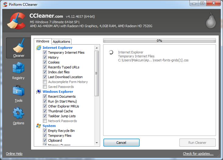 Free Download CCleaner 4.12.4657 2014 Terbaru