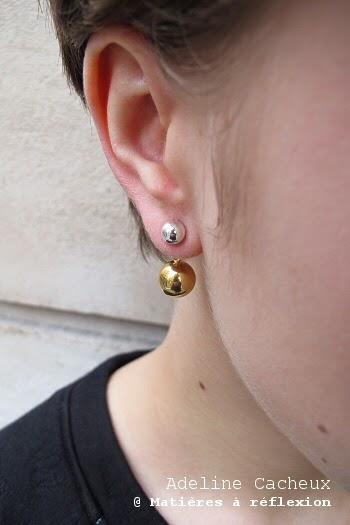 Adeline Cacheux bijoux argent boucles boules vermeil perles