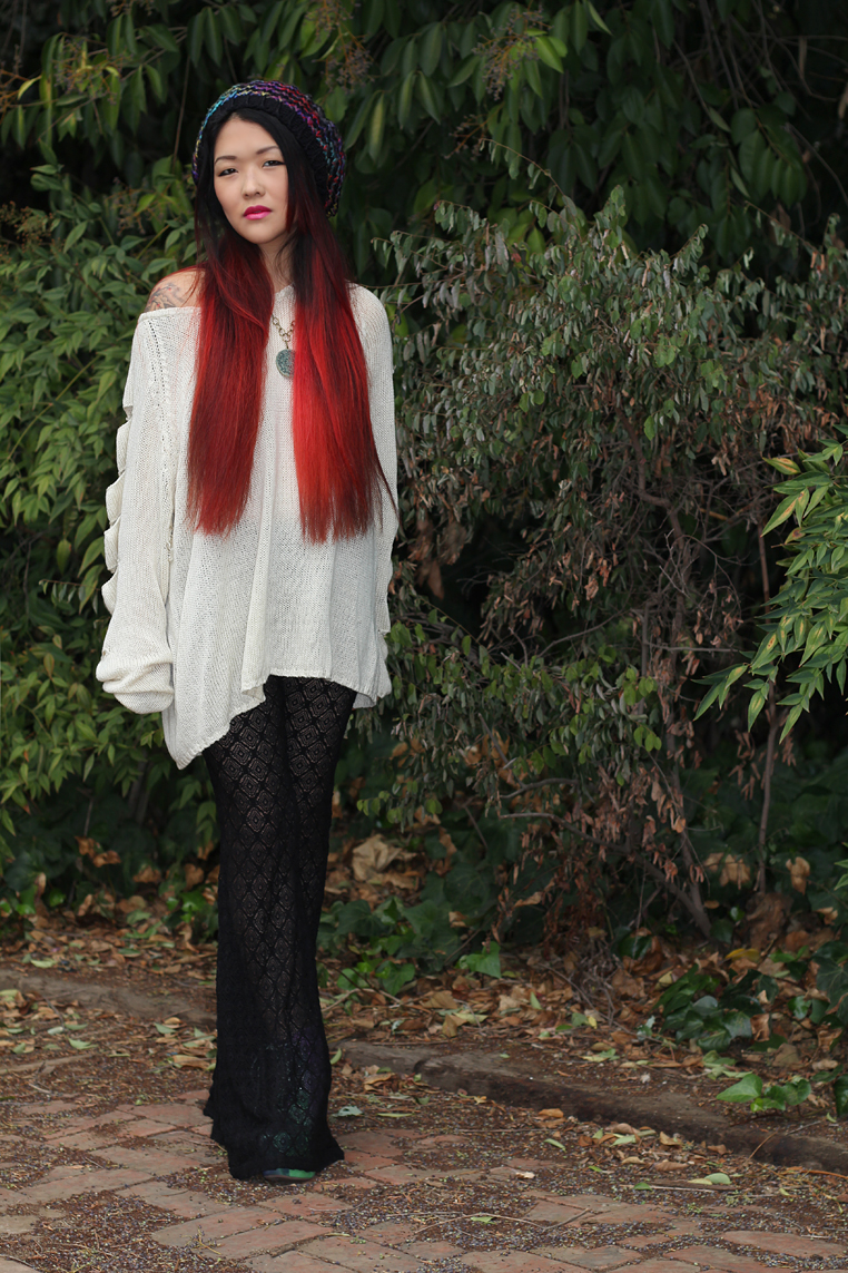 lace bell bottoms Forever 21