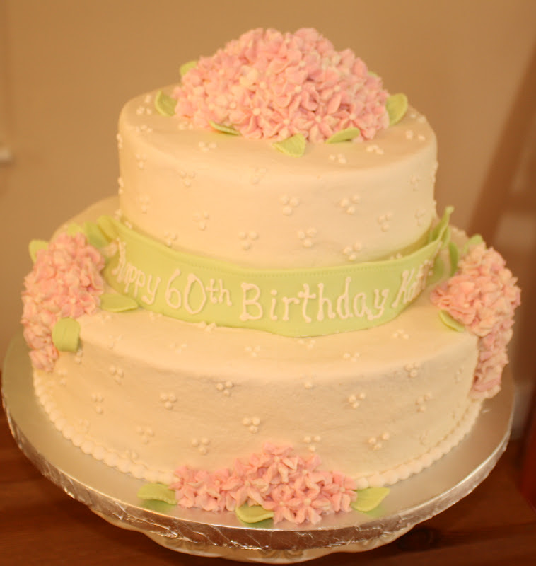 Kake Hydrangea Birthday Cake