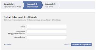 Cara Daftar FB Facebook Baru
