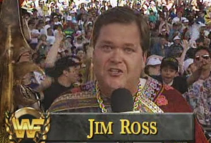WWE / WWF WRESTLEMANIA 9: Jim Ross made his World Wrestling Federation debut
